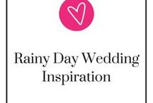Rainy Day Wedding Inspiration / It's good luck if it rains on your wedding day, so, why not plan for it?