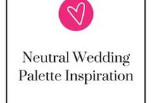 Neutral Wedding Palette Inspiration / A timeless, soft, romantic look - a neutral wedding palette can be rather hard to choose colors for...without the right inspiration. Here, we have a number of different neutral wedding palettes for you! Take a step back, relax, and be ready to pin.