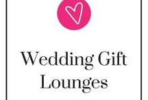 Wedding Gift Lounges / Gift lounges take wedding favors to a whole new level. Instead of giving them a standard wedding gift, why not let them choose which gifts that they want? Not sure what selections you want in your wedding gift lounge? Here's some ideas to help you get started. Take a step back, relax, and be ready to pin.