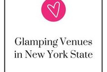 Glamping Venues in New York State / Despite popular belief, New York has so many camping sites and, of course, it has glamour. But is there a place that has both? Yes, we have a whole Pinterest board of wedding glamping venues that do! Enjoy the beauty of nature with a touch of luxury at your wedding. *Glamp (v) - fusion of glamour and camping