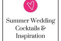 Summer Wedding Cocktails & Inspiration / Nothing is more great than having a nice, refreshing, cold cocktail on a warm summer day, especially at a wedding! Choosing which ones to go with for your wedding guests (and yourself) can be hard, though. No worries, here's some inspiration for your summer wedding cocktail. Take a step back, relax, and be ready to pin.