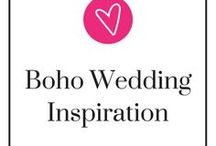 Boho Wedding Inspiration / Boho weddings are for people who are want a relaxed, unconventional, and typically give a free spirit vibe. If this is what you're looking for, come here and get a little bit of perspective and/or a little bit of inspiration.