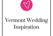 Vermont Wedding Inspiration / From the colorful fall foliage, winter snowy mountains, and beautiful spring and summer scenery, Vermont is a charming location for your wedding. Here, you'll find inspiration on where and how to have your wedding. Take a step back, relax, and be ready to pin.