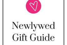 Newlywed Holiday Guide / I get it, trying to think of wedding gifts to the soon-to-be newlyweds is so hard. Will they like it? Will they use it? Here, we've made a board of gift ideas that they will be sure to like and (hopefully) use! Take a step back, relax, and be ready to pin.