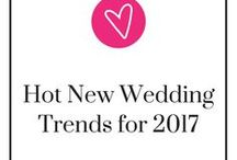 Hot New Wedding Ideas and Trends for 2017 / Gasp! Donut walls? Drip cakes? Wedding lawn games? The latest wedding dress styles? These are all the hottest wedding trends of 2017! Come, take a look for some inspiration and new ideas for your wedding. Take a step back, relax, and be ready to pin.