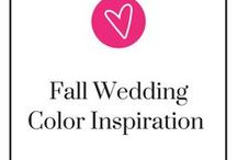 Fall Wedding Color Inspiration / Need help trying to figure out your fall wedding colors? Don't worry we got your back. Take a step back, relax, and be ready to pin.