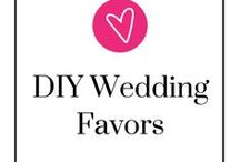 DIY Wedding Favors / Looking for something fun with your own personal touch to give your guests? Like everything else wedding related, we've got some inspiration for you! Take a step back, relax, and be ready to pin.