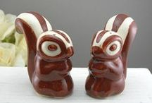 Animal Salt and Pepper Shakers / Various types of animal salt and pepper shakers. Look in other boards for birds, owls, cats, dogs and chickens.