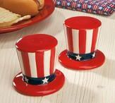 Political salt and pepper shakers / Politics, government and patriotic salt and pepper shakers