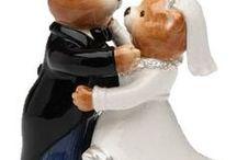 Wedding salt and pepper shakers