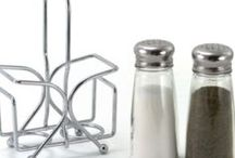 Old Style / Traditional Salt and Pepper Shakers