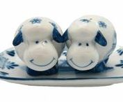 Delft Salt and Pepper Shakers