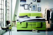 Schlafzimmer Greenery / Schlafzimmer, Boxspringbett, Greenery