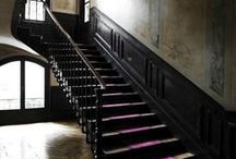 HOME // entries + stairways / Creating a Modern Victorian > what to do when there are 3 staircases in your home.