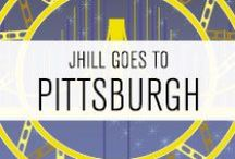 travel // PITTSBURGH / Pittsburgh, PA's many yellow bridges, Steelers, and sandwiches with french fries on them.