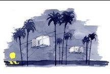 watercolors , drawings , sketches