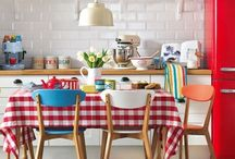 Kitchen,table,dinnerware :)