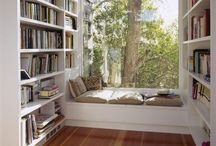 Interiors | Libraries & Reading Nooks / Inspiration for housing all my books and lovely places for reading them! I love to read! / by Rebecca Bookwalter