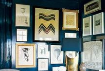 HOME // framing + gallery walls / Ideas on how to hang and frame artwork