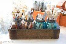 Craft Room...Organized Goodness / by Bobbie Jenkins