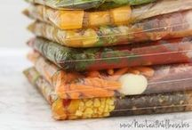 Freezer Meals / Easy freezer meals for busy families involved with after school activities