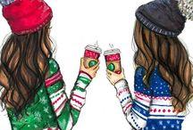Цветные рисунки