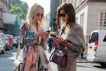 Fashion S/S / Street style photos from fashionable ladies all over the world — Outfits for Spring and Summer that are bright, elegant, and undeniably chic.
