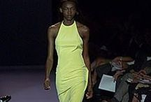 FM Carolina Herrera ~Spring 2000~ / In the 2000s during the spring time, Carolinas dresses were either with sequins or solid colors and also they didn't have any patterns on them.