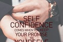 Confidence / Confidence comes when you keep your promise to yourself.  www.acheivemountain.com