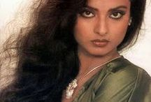 Rekha / Bhanurekha Ganesan, better known by her stage name Rekha, is an Indian film actress. Noted for her versatility and acknowledged as one of the finest actresses in Hindi cinema, Rekha started her career in 1966 as a child actress in Telugu films. Rekha has acted in over 180 films in a career spanning over 40 years. She has won three Filmfare Awards and speaks Hindi, Tamil, Telugu and English fluently. Born: October 10, 1954 Chennai, India