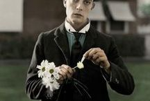 """Buster Keaton / Joseph Frank """"Buster"""" Keaton was an American actor, director, producer, writer, and stunt performer. He was best known for his silent films, in which his trademark was physical comedy with a consistently stoic, deadpan expression, earning him the nickname """"The Great Stone Face.""""   Born - October 4, 1895 Piqua, KS Died - February 1, 1966 (age 70) Woodland Hills, CA Cause of Death - Lung Cancer"""