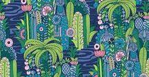 Tropicalia / Tropical patterns, textiles, prints, inspiration