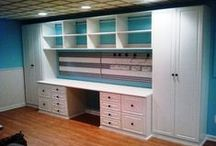 Craft room storage and Decorating / Repurposed or the best the market already makes