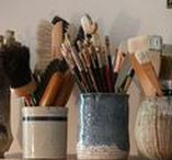 Artists and their dwellings / Artists, art, art studious, art ateliers