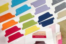 Tab dies and tab punches / Craft dies or punches that create either single piece (faux) tabs or folded real tabs.