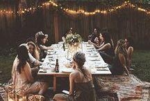 Piknik, stolování, jídlo