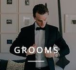 Grooms / Portraits of grooms and ideas for groom styles and suits.
