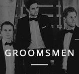 Groomsmen / Style inspiration board for grooms and groomsmen. Ideas for groomsmen suits and atire.