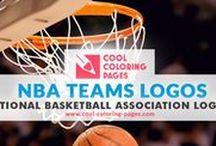 NBA Teams Logos Coloring Pages / NBA basketball teams logos