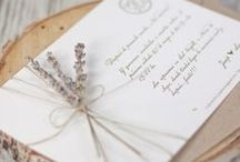 Invitations / For more than weddings!  Anniversaries, birthdays, life events are meant to be celebrated!  Lovely invitations, menu cards, place setting name tags, thank-you card ideas!  Again, I love the watercolor papers that are used!  The texture is so wonderful!
