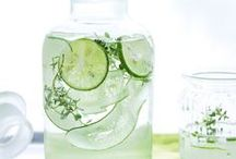 Infused Water / Infused Water is a great option increasing water intake.  Benefits also include weight loss, hydration, and detox.  It is easy to make with all these ideas and recipes!