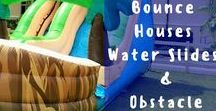 Just Bouncin' Around / What's the best way to enjoy a party or throw a successful festival? INFLATABLES!! Water Slides, Obstacle Courses and Bounce Houses - OH MY!