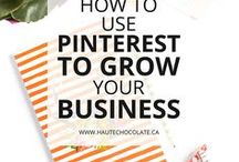 Pinterest Tips / Grow your business with Pinterest with these Pinterest tips and Pinterest marketing strategies. How to use Pinterest for business, Pinterest group boards, Pinterest scheduling with BoardBooster and Tailwind, Pinterest traffic tips, Pinterest for bloggers, and Pinterest for beginners.