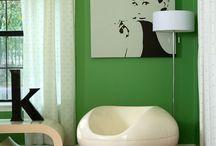 Kodin vihreä värimaailma
