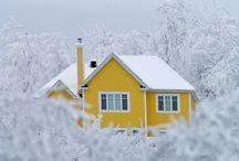 Kodin keltainen värimaailma