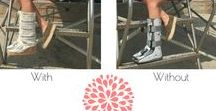 The Verano / A line of summer covers to go around your medical walking boot, walking cast, or aircast.