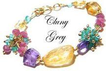 Handmade Bracelets / Handmade bracelets made from gemstones, sterling silver, gold and gold-filled metal, lampwork beads, Swarovski crystals, freshwater pearls.