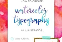 Design + Lettering Tutorials / free tutorials from every-tuesday.com