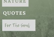 Quotes for the Soul / Let me inspire you with amazing nature quotes, get outside and enjoy the beauty.