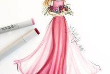 Dress drawings (Elbise çizimleri)